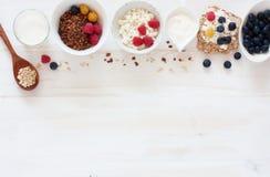 Begrepp av den sunda frukosten Arkivbild