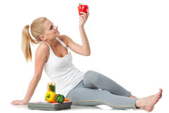 Begrepp av den sunda livsstilen. Royaltyfri Foto
