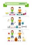 Begrepp av den sunda livsstilen och wellbeing Arkivbild