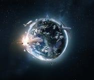 Begrepp av det globala världsflygplanloppet arkivfoto
