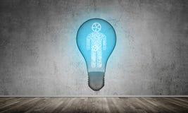 Begrepp av effektiva innovationer för mänskligheten Arkivfoton