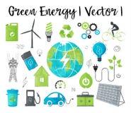 Begrepp av ekologi- och gräsplanenergi Royaltyfria Bilder