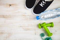 Begrepp av en sund livsstil och sport royaltyfri foto