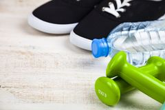 Begrepp av en sund livsstil och sport royaltyfri bild