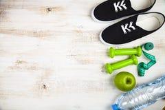Begrepp av en sund livsstil och sport arkivfoton