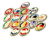 Begrepp av europeiskan monetäraa systemmen. Royaltyfri Fotografi