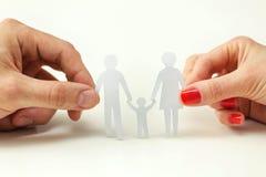 Begrepp av familjomsorg arkivfoton