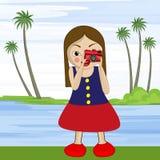 Begrepp av fotografi med tecknade filmen Royaltyfria Bilder