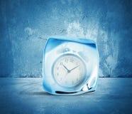 Begrepp av frysningtid Fotografering för Bildbyråer