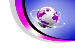 Begrepp av globala anslutningar Arkivbilder
