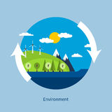 Begrepp av grön energi Arkivfoton