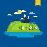 Begrepp av grön energi Royaltyfria Bilder