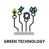Begrepp av grön teknologi, teknologier av framtid Royaltyfri Foto