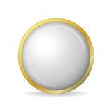 Begrepp av guld- knappar med skugga också vektor för coreldrawillustration royaltyfri illustrationer