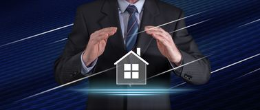 Begrepp av hem- försäkring arkivfoton