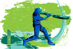 Begrepp av idrottsmannen som spelar syrsan Royaltyfri Foto