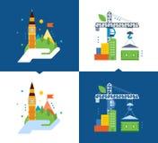 Begrepp av illustrationservice för miljö- renlighet royaltyfri illustrationer