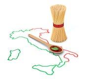 Begrepp av italiensk pasta Stock Illustrationer