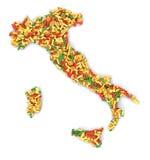 Begrepp av italiensk pasta Vektor Illustrationer
