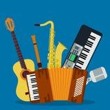 Begrepp av konsertmusikinstrument Royaltyfri Foto