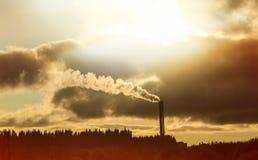Begrepp av luftförorening och att ändra för klimat Royaltyfri Bild