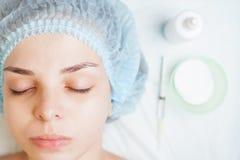 Begrepp av medicinsk behandling av föryngring och skincare Royaltyfria Bilder