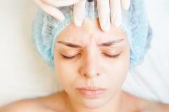 Begrepp av medicinsk behandling av föryngring och skincare Arkivfoto