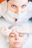 Begrepp av medicinsk behandling av föryngring och skincare Fotografering för Bildbyråer