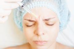 Begrepp av medicinsk behandling av föryngring och skincare Royaltyfri Foto