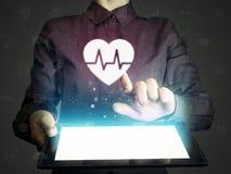 Begrepp av medicinsk service, diagnosen och behandling Arkivfoton