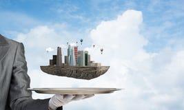 Begrepp av modern stadsplanering Royaltyfria Foton