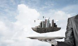 Begrepp av modern stadsplanering Arkivfoton