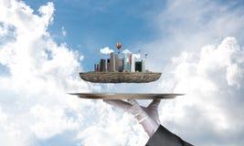 Begrepp av modern stadsplanering Arkivbild