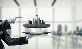 Begrepp av modern stadsplanering Royaltyfri Fotografi