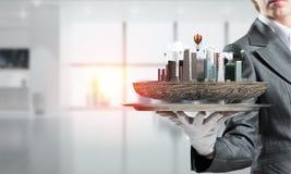 Begrepp av modern stadsplanering Royaltyfri Bild