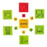 Begrepp av nya internetteknologier. Arkivfoto