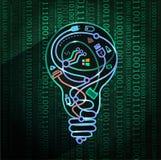 Begrepp av nya tekniker, 3d vektor illustrationer