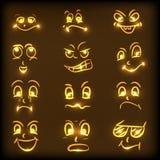 Begrepp av olika ansiktsuttryck Royaltyfria Bilder