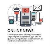 Begrepp av online-nyheterna Arkivbilder