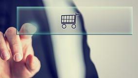 Begrepp av online-shopping Royaltyfria Bilder