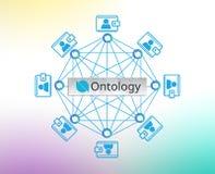 Begrepp av ontologimyntet eller ONT, en blockchainplattform, Digital pengar royaltyfri bild