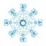 Begrepp av ontologimyntet eller ONT, en blockchainplattform, Digital pengar arkivbild