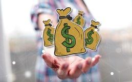 Begrepp av pengar royaltyfria bilder