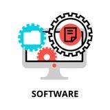 Begrepp av programvarusymbolen, för diagram och rengöringsdukdesign Arkivfoton