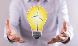 Begrepp av ren energi arkivbild
