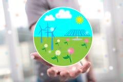 Begrepp av ren energi royaltyfria foton