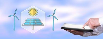 Begrepp av ren energi royaltyfri bild