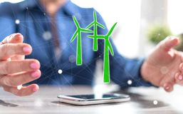 Begrepp av ren energi arkivfoto