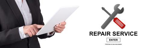Begrepp av reparationsservice arkivbild
