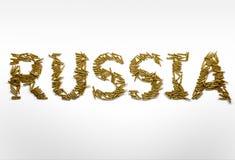 Begrepp av Ryssland i militära konflikter Ryssland skrev med stilsorten Arkivbilder